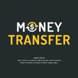 Modern money transfer logo and emblem. Vector illustration Royalty Free Stock Photos