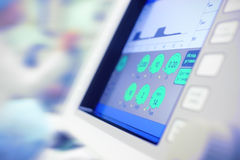 Modern monitor of scientific device in hospital use. Stock Image