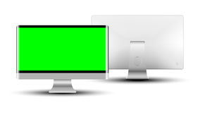 Modern monitor. Modern tv monitor isolate on white background. Vector illustration Royalty Free Stock Images