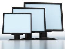 Modern monitors Royalty Free Stock Image