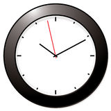 Modern mono clock Royalty Free Stock Photo