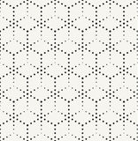 Modern monochrome dotted hexagonal texture Stock Images