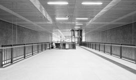 Modern monochrome underground station Royalty Free Stock Photography