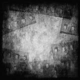 Modern monokrom grungefilmbakgrund Royaltyfria Foton