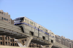 Modern Monorail in Dubai Royalty Free Stock Images