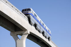 Modern Monorail in Dubai Stock Image