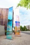 Modern monuments in Liechtenstein Stock Photography