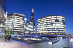 Modern More London Riverside area - London England  UK Royalty Free Stock Photo