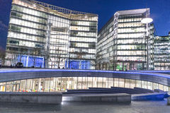 Modern More London Riverside area - London England  UK Royalty Free Stock Photos