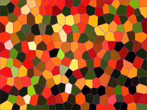 Modern mosaic background. Modern mosaic stained glass effect background of different colours stock illustration