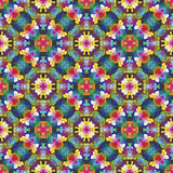 Modern mosaic in oriental style. Symmetric  based ornamental background in vivid colors inspired by Islamic architecture Royalty Free Stock Photography