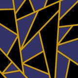 Modern mosaic wallpaper in black and gold vector illustration