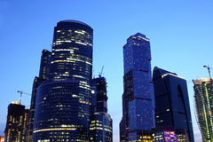 Modern Moscow at night Royalty Free Stock Photo