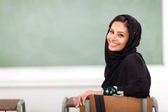 Moslim universiteitsmeisje stock afbeelding