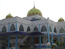 A modern mosque. A mosque close up in Kg. Melayu Kluang Johor Malaysia Royalty Free Stock Photo