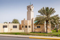 Modern mosque in Rahima, Saudi Arabia Stock Photos