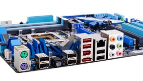 Modern motherboard Royalty Free Stock Photos