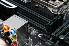 Modern motherboard to build a powerful computer Royalty Free Stock Photo