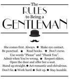 Modern motivational kostnadsförslag om att vara en gentleman Royaltyfri Fotografi