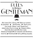 Modern, motivational quotation about being a gentleman. Royalty Free Stock Photography