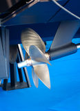 Modern motor  boat propeller detail Royalty Free Stock Photography