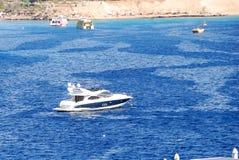 Modern motor yacht in Naama Bay Stock Photography