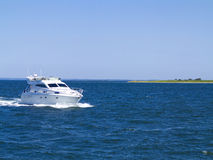 Modern motor yacht Stock Photography