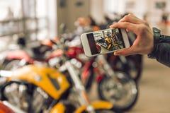 Modern motorbike salon Royalty Free Stock Images