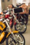 Modern motorbike salon Royalty Free Stock Image