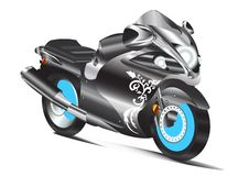 Modern motorcycle vector design Royalty Free Stock Image
