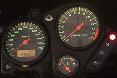 Modern motorcycle dashboard. Royalty Free Stock Photos