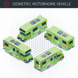Modern motorhome car. Isometric modern motorhome car. 3d vector transport icon. Highly detailed vector illustration Stock Photo