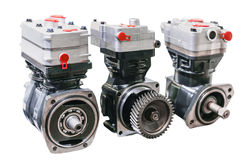 Modern motors of small size will provide more power, efficiency and durability Stock Photo