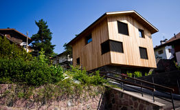 Modern mountain house Stock Images