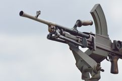 Modern mounted machine gun Royalty Free Stock Image