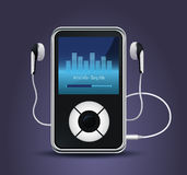 Modern mp3 player Royalty Free Stock Photography