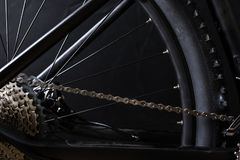 Modern MTB race mountain bike isolated on black background royalty free stock photos