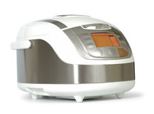 Modern Multi Cooker. New modern multi cooker isolated with clipping path over white Royalty Free Stock Photo