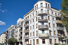 Modern Multi-family Apartment Houses Stock Image