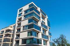 Modern multi-family house in Berlin. Modern multi-family house with a lof of glass seen in Berlin, Germany stock image