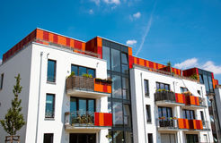 Modern multi-family house in Berlin Royalty Free Stock Images