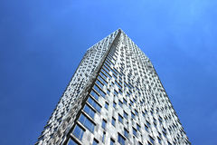 Modern multi-storey building, rotated around its axis Stock Images