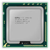 Modern multicore CPU Stock Photos