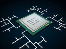 Modern multicore CPU Stock Photography