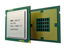 Modern multicore CPU Stock Photos
