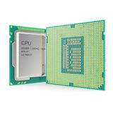 Modern multicore CPU isolated on white background. 3d illustration Royalty Free Stock Image