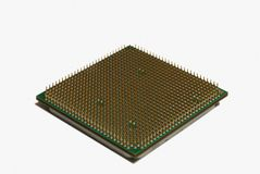 Modern multicore CPU. Cpu processor isolated on white Stock Photography