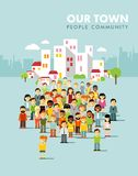Modern multicultural society concept with city Royalty Free Stock Photo