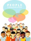 Modern multicultural society concept with people Royalty Free Stock Images