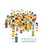 Modern multicultural society concept with people Royalty Free Stock Image